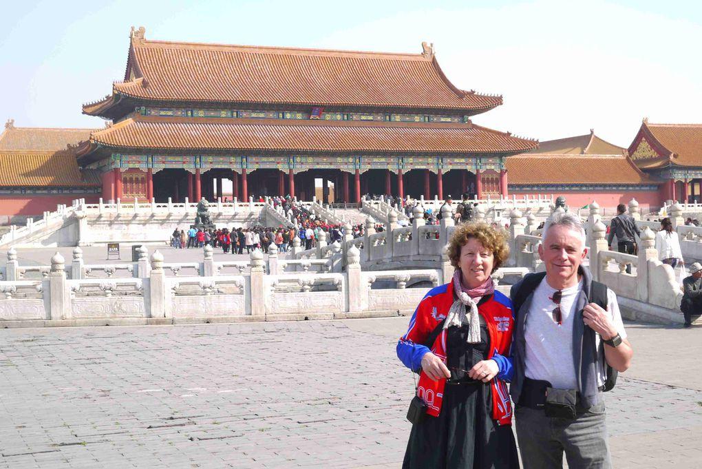 Arrivée le lundi 26 mars, visites touristiques (Place Tien An Men, Cité Interdite, le Palais d'Eté, le Temple du Ciel, le jour du départ de Pékin Paris Londres 2012