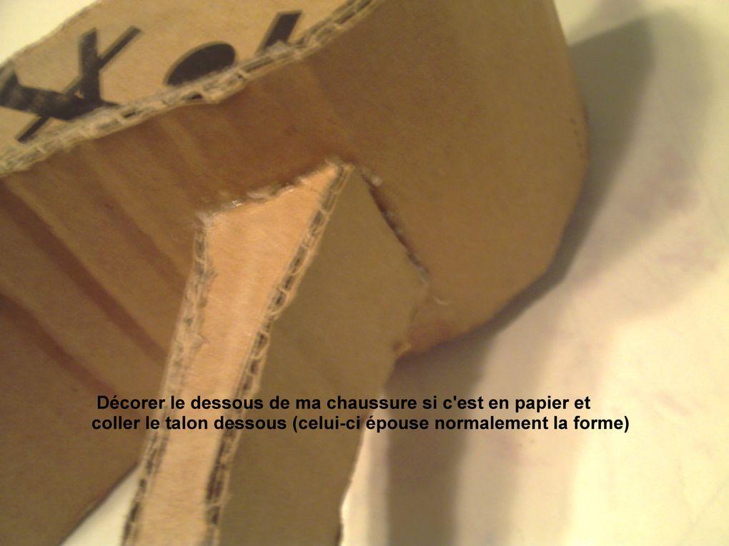 une chaussure en carton, pourdécorer la table d'anniversaire de votre petite princesse, n'ésitez plus, cesoulier lui ira comme un gant