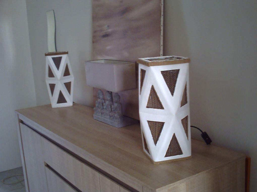 lampes d'ambiances faites en carton de récupération