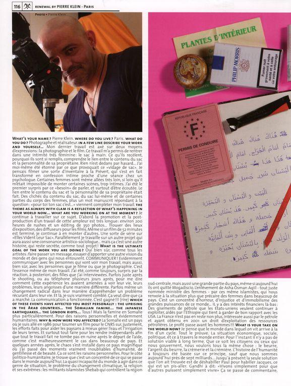 Album - Clam Magazine Novembre 2011