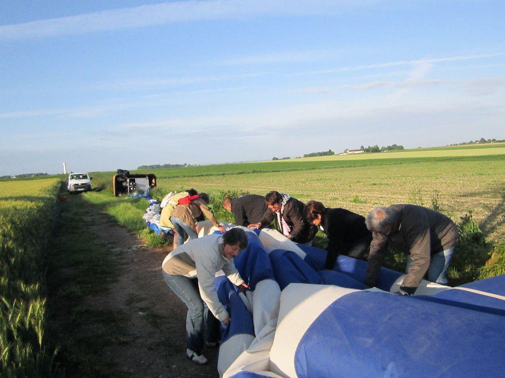 Vol en montgolfièreeffectué le 9 juin 2012de Veniers au châteaudu Rivau