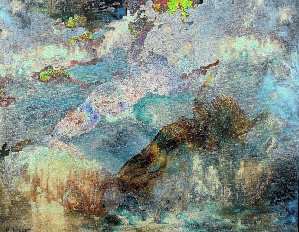 """Ces """"graphiks"""" sont réalisés à partir de mes toiles en collaboration avec Jean Michel MOMONT. Ils regroupent, pour certains d'entre eux, deux toiles."""