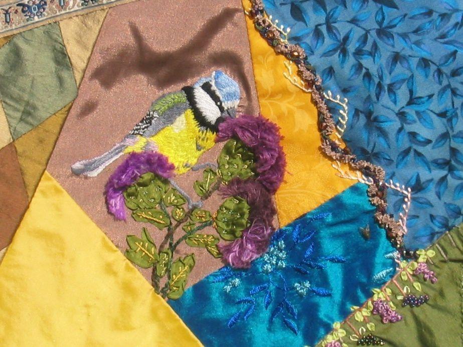 Broderies traditionnelles, aux rubans de soie, perlées, etc.,créations et élucubrations...