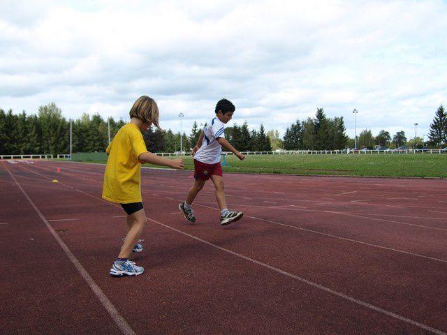 mercredi  7 septembre, première séance  à la Plaine des Sports  pour les  jeunes avec Janik.