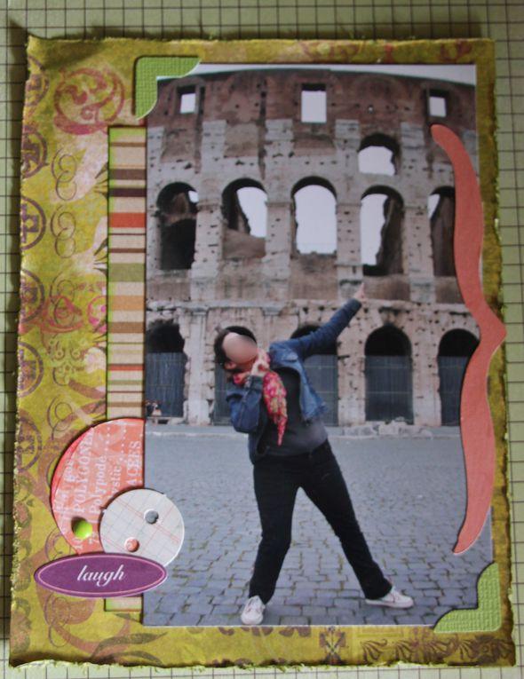 Un mini réalisé de A à Z, structure comprise... mon tout premier! Uniquement des photos de nous dans la sublissime Rome.