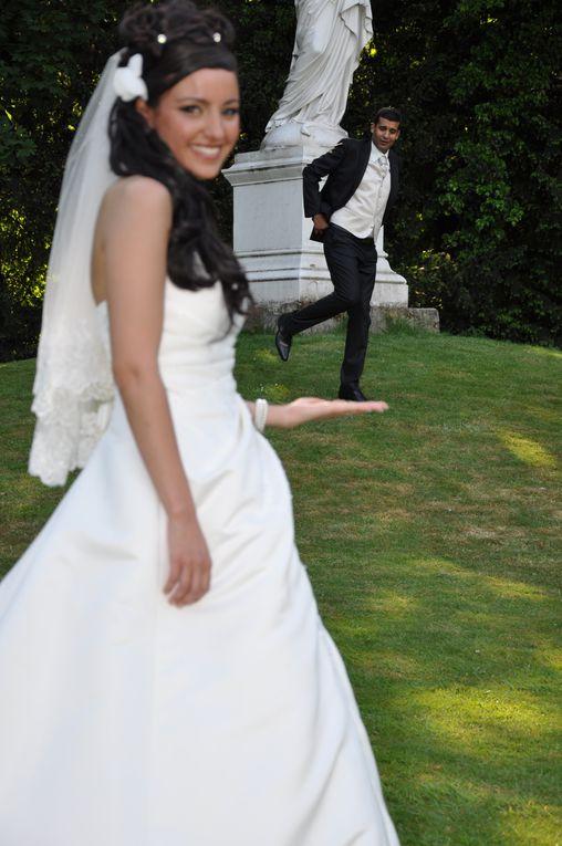 Une mariée d'une grande beauté, un marié charmant et gracieux avec un temps magnifique et une soirée des plus réussie,tout ce qu'il faut pour réussir un mariage parfait.