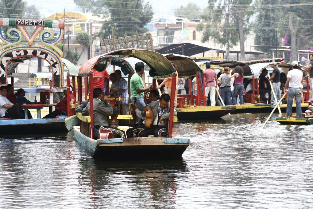 Inscrit au patrimoine mondial de l'UNESCO, Xochimilco ou «lieu du champ de fleurs» en Nahuatl, est une zone très touristique en raison de la présence d'un formidable réseau de canaux.Ses jardins flottants (chinampas) ont été cultivés par les