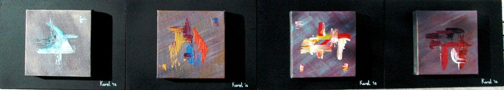 Oil paint and/or Acrylic paint. Paintings on different supports.