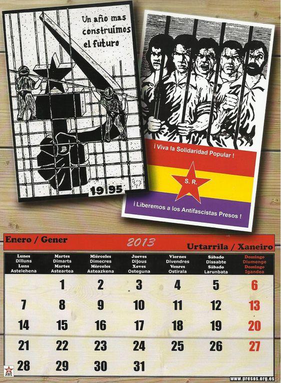 AMNISTIE et Liberté pour le Collectif des presxs politiques Communistes, Antifascistes et Solidaires du PCE(r), des GRAPO et du SRI !