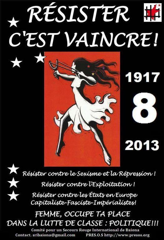 affiches du Comité pour un SRI de Baiona en Iparralde