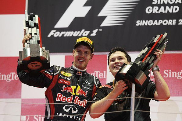 This collection includes photos capturing the moment of each driver's race win. From Vettel to Alonso, success has been achieved in all of these shots.