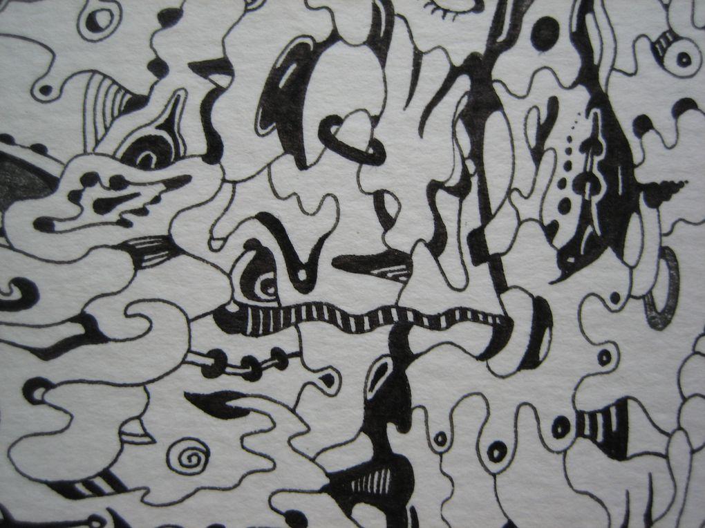 dessins au crayon ou à l'encre de Chine