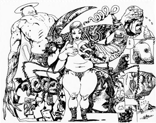 "Katsuya Terada (寺田克也 Terada Katsuya?, born December 7, 1963), is a Japanese illustrator and cartoonist from the town of Tamano, Okayama. His alias is Rakugakingu (ラクガキング ""Doodle King""?). Source WIKIPEDIA."