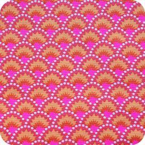 Tissus dans les tons rose et violet pour mes créations