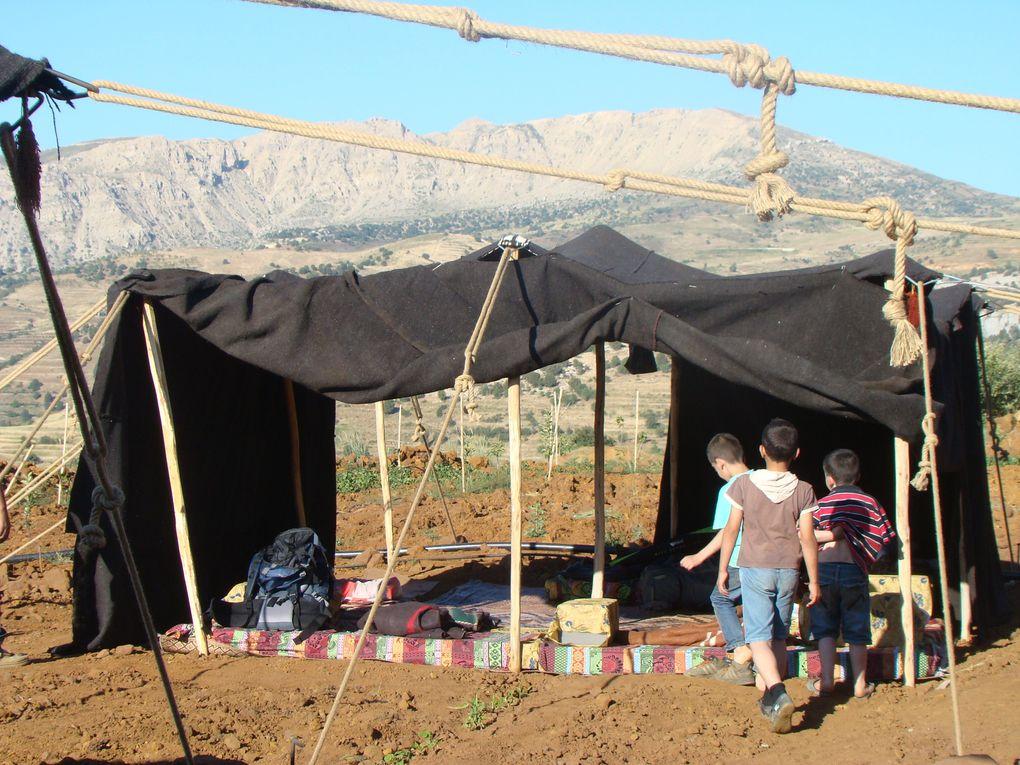 Nuit sous une tente bedouine dans le nord Liban
