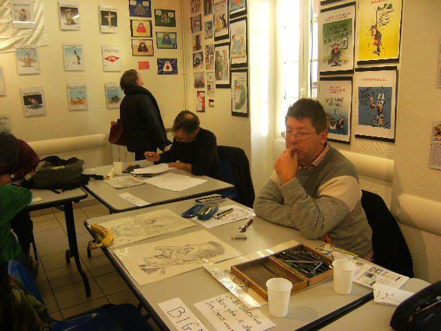 1er Exposition de dessins de presse et caricatures.