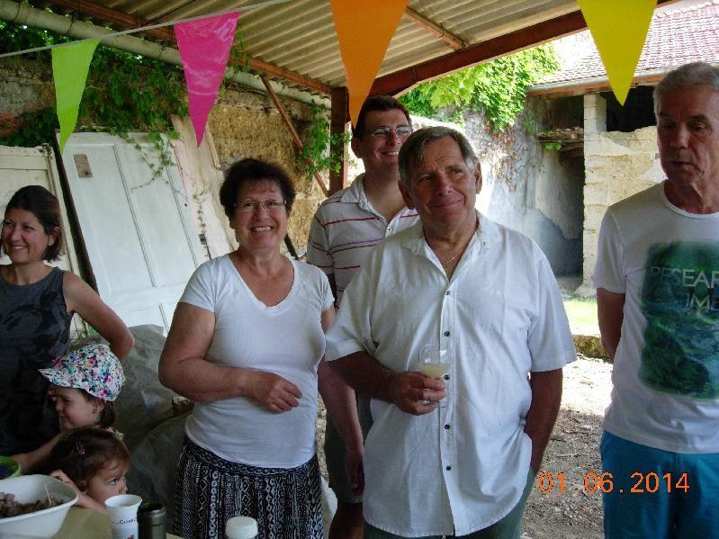 Chez Liliane et Patrick le 1er juin 2014
