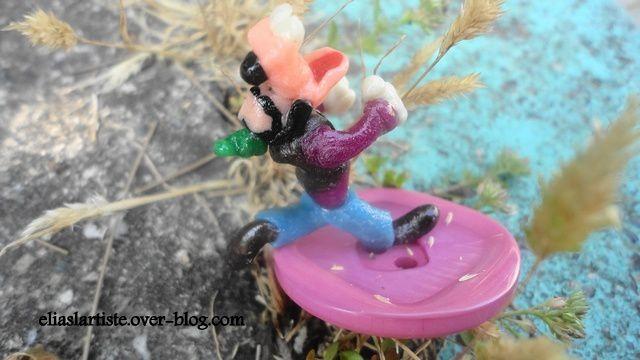 Mes figurines de personnages walt disney miniatures  en pâte à sel