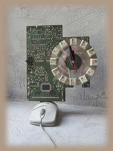 Kunst mit Computerteile