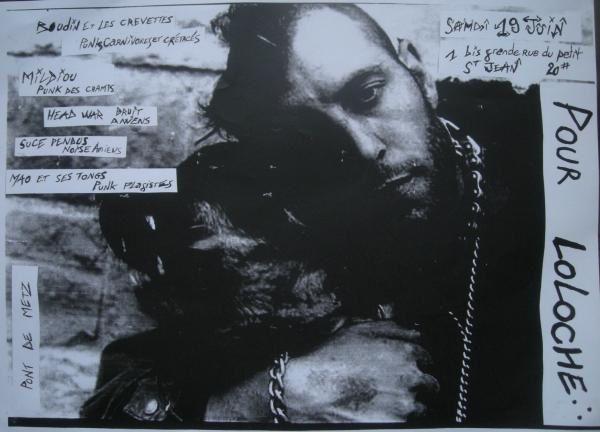 affiches et quelques photos de la maison post-merde de chiens