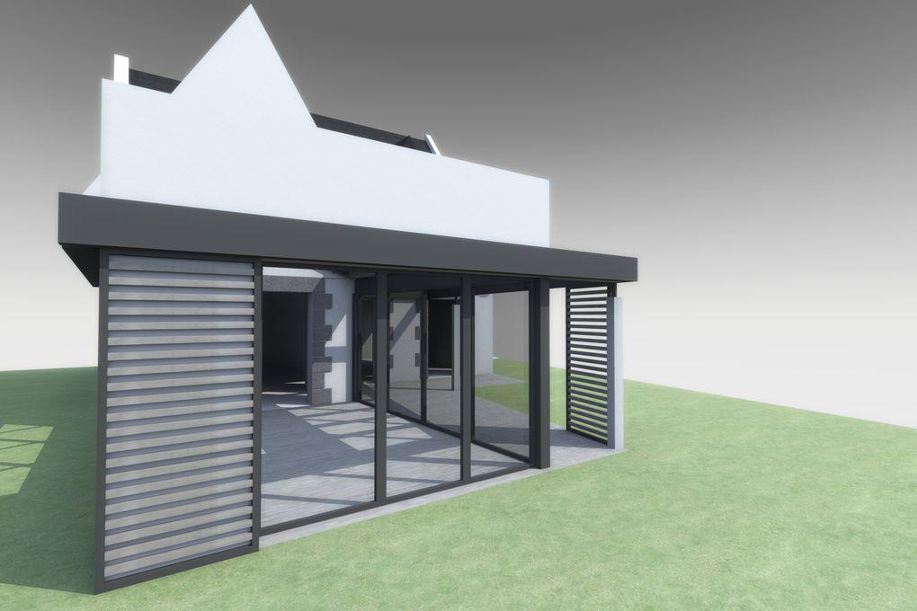Album - Maison I - Extension véranda et rénovation d'une maison néo bretonne