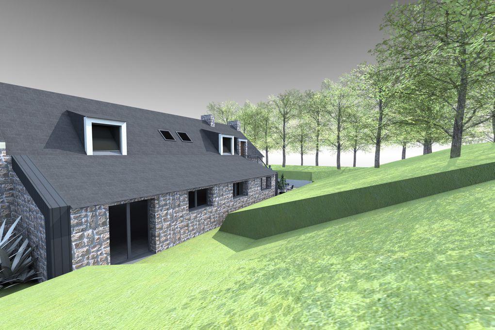 Album - Maison LG - Extension et rénovation d'une longère bretonne - Nostang