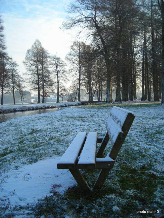 le parc de la pointe des vergnes sous la neige .