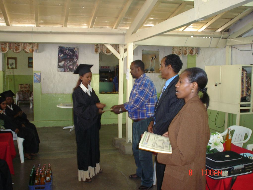 Computer training class and diploma ceremony 2010.