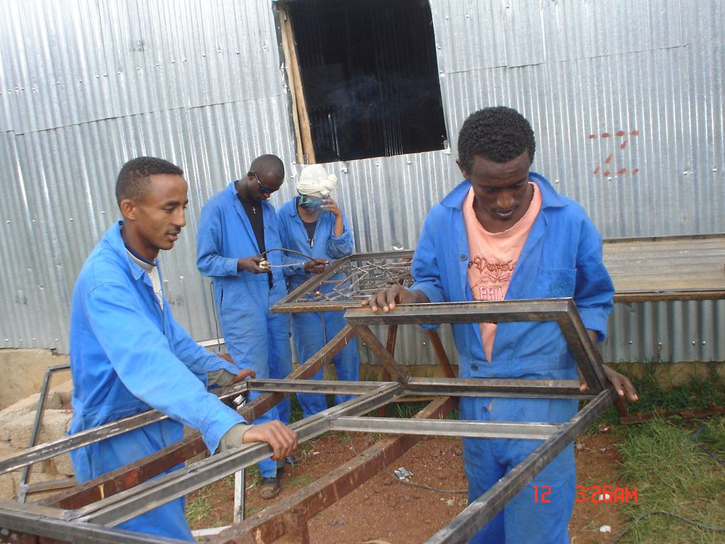 In this album you can see some picture of our metal work training students in action.