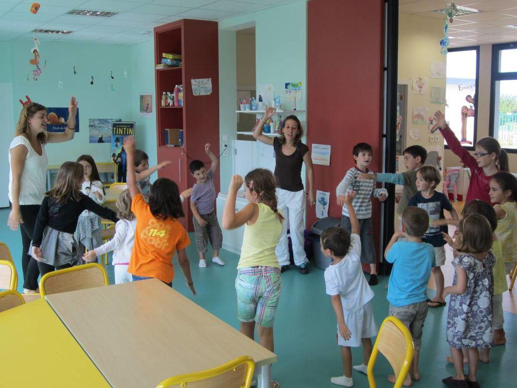 Dernière semaine des vacances d'été 2012 : les Jeux Oplympiques sont au programme : épreuves de rapidité, de force, ... et spectacle imaginé par les enfants !