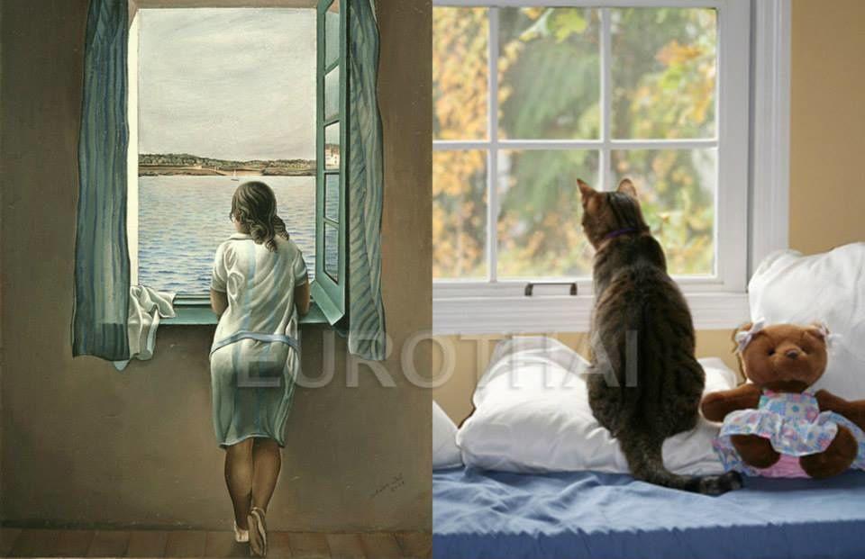 Album - Chats-imitent-tableaux-peinture