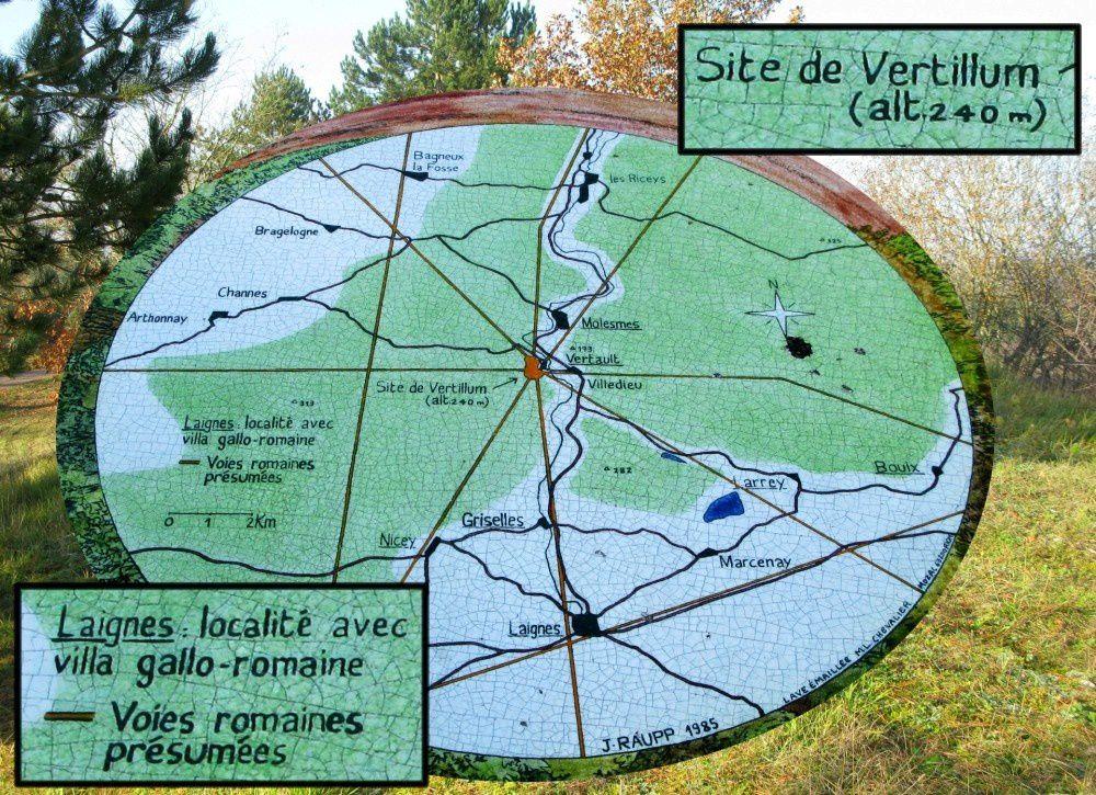 VERTILLUM, Oppidum gaulois, ville gallo-romaine, à VERTAULT (Côte d'Or)
