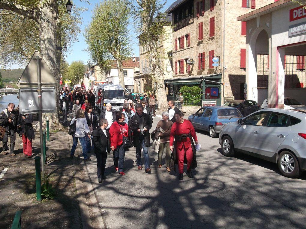 le défilé du 1er mai 2012 à Figeac