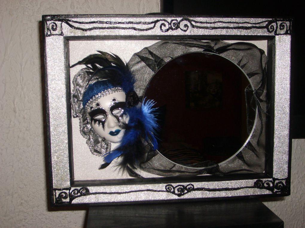 Miroir sur toile à l'Acrylique