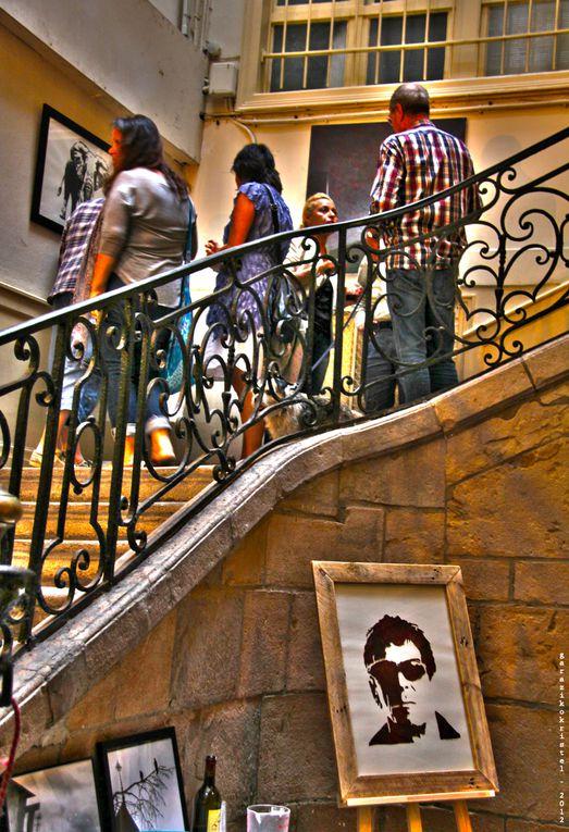 """Expo en """"cage d'escalier"""" #1 à Bayonne - avec Mr Ride, Gilen, Aude Nogues, Raoul et K.Labarry"""