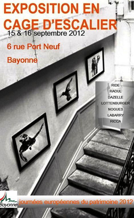 quelques images de l'expo en cage d'escalier #2 à l'occasion des Journées nationales du Patrimoine 2012 à Bayonne