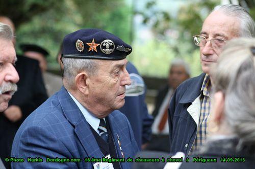 Amicale du 18ème régiment de Chasseurs à cheval 1956-1962 à Périgueux 14-09-2013 ( 47 corps seront ainsi retrouvés le 01 août, 29 du 2ème peloton, dont 17 harkis de la harka N° 16 et l'aspirant Desmas de la S.A.S.)