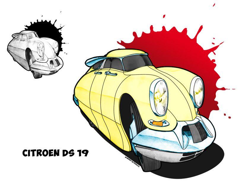 Voici une série d'illustrations réalisées dans les années 90, un exercice pas toujours simple qui consistait à caricaturer les traits révélateurs de certains bolides. A l'époque pas d'ordinateur pour mes photomontages, les illustrations étai