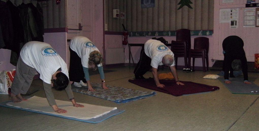 Déroulement d'une séance de yoga