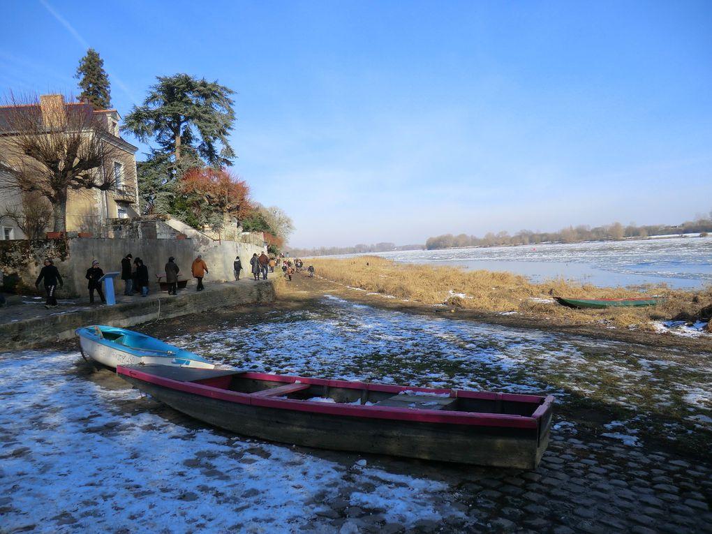 Après la couche de neige que l'Angevine a apprécié ce mois de février,vers La Pointe de Bouchemaine,la Loire offre un cocktail rafraîchissant....