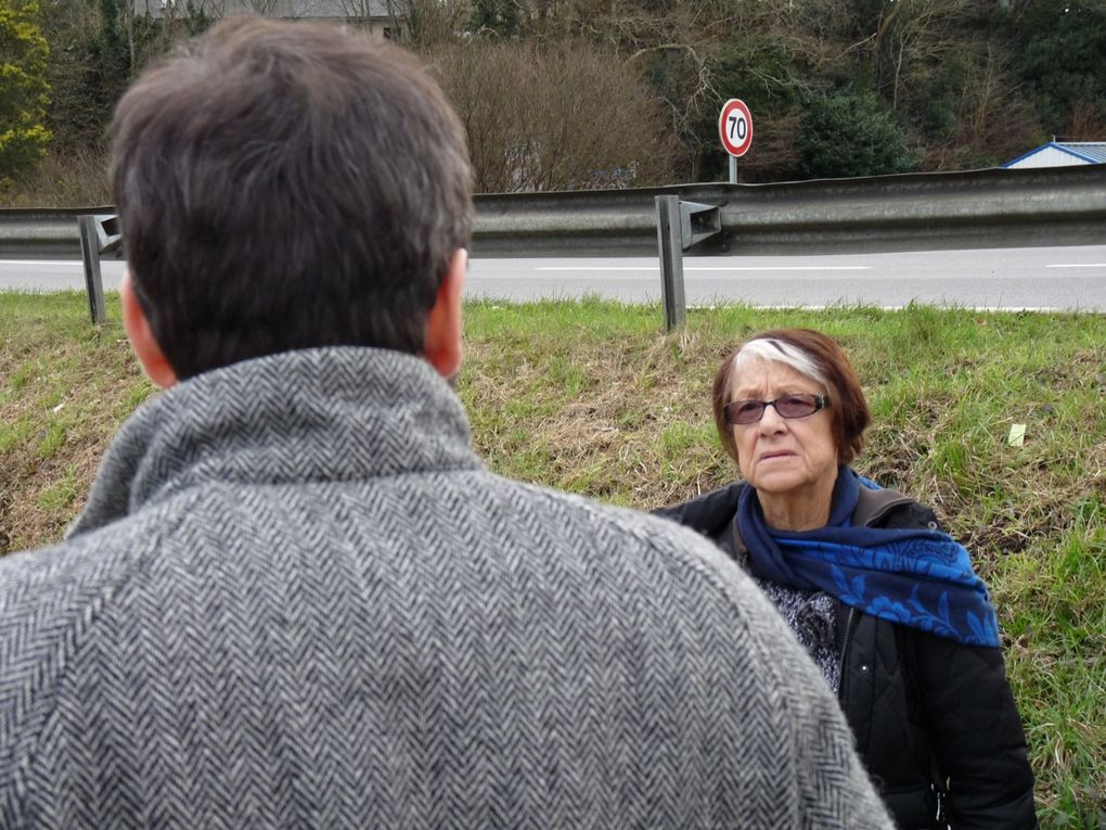 Visite à l'attention d'Eliane Faucon-Dumont (Le Télégramme Quimper) des sites d'intervention des Frères Ripoulain