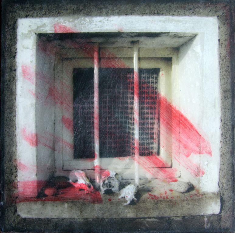 Photographie numérique et peinture acrylique sur miroirs.15x15cm
