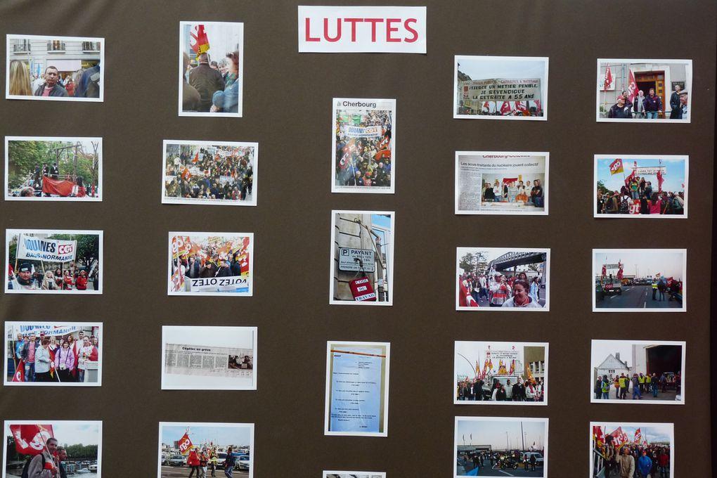 A l'occasion du 1er mai 2013, une exposition des trois Unions locales des syndicats Cgt du Nord-Cotentin, dédiée à notre camarade Michel NEE, victime de l'amiante.