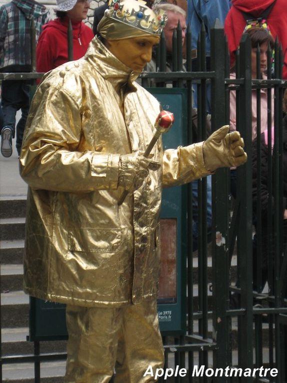 Les mimes que vous pourrez rencontrer à l'occasion de vos visites sur Montmartre. Si vous avez de la chance ...