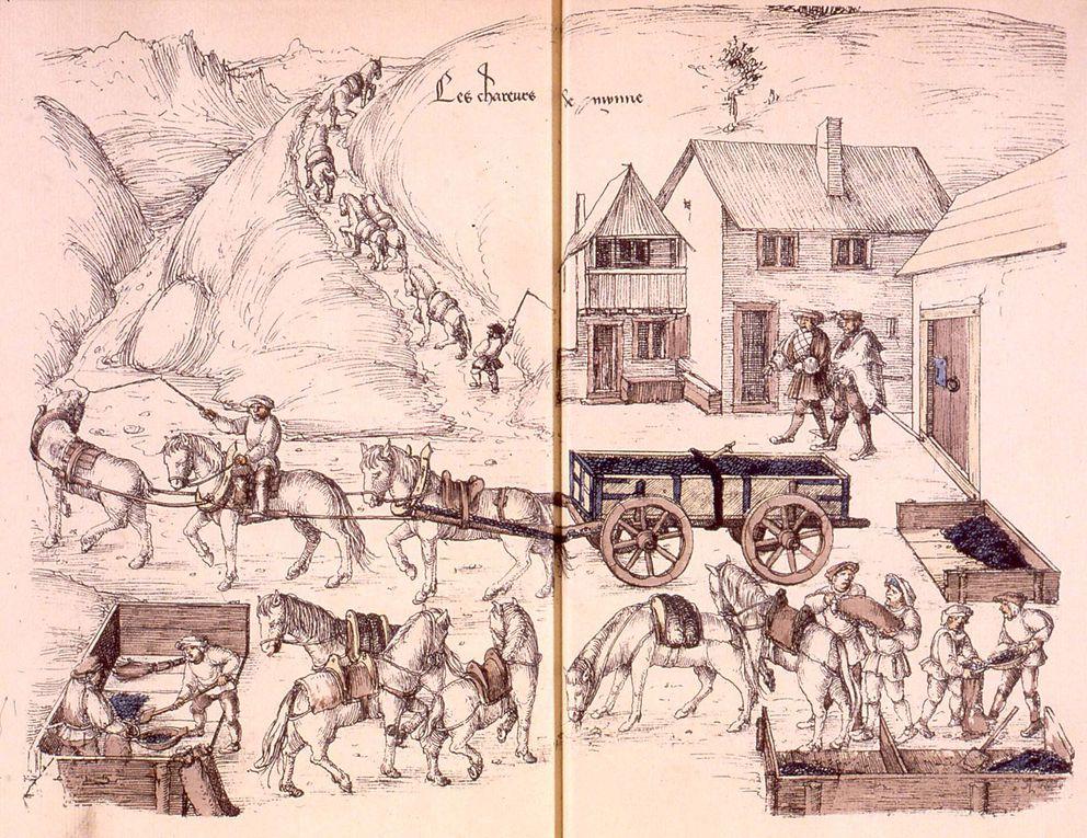 Reproduction des dessins originaux de l'époque dus à Heinrich Gross.Source: Alsatica, le Portail des Savoirs en Alsace.http//:www.alsatica.eu