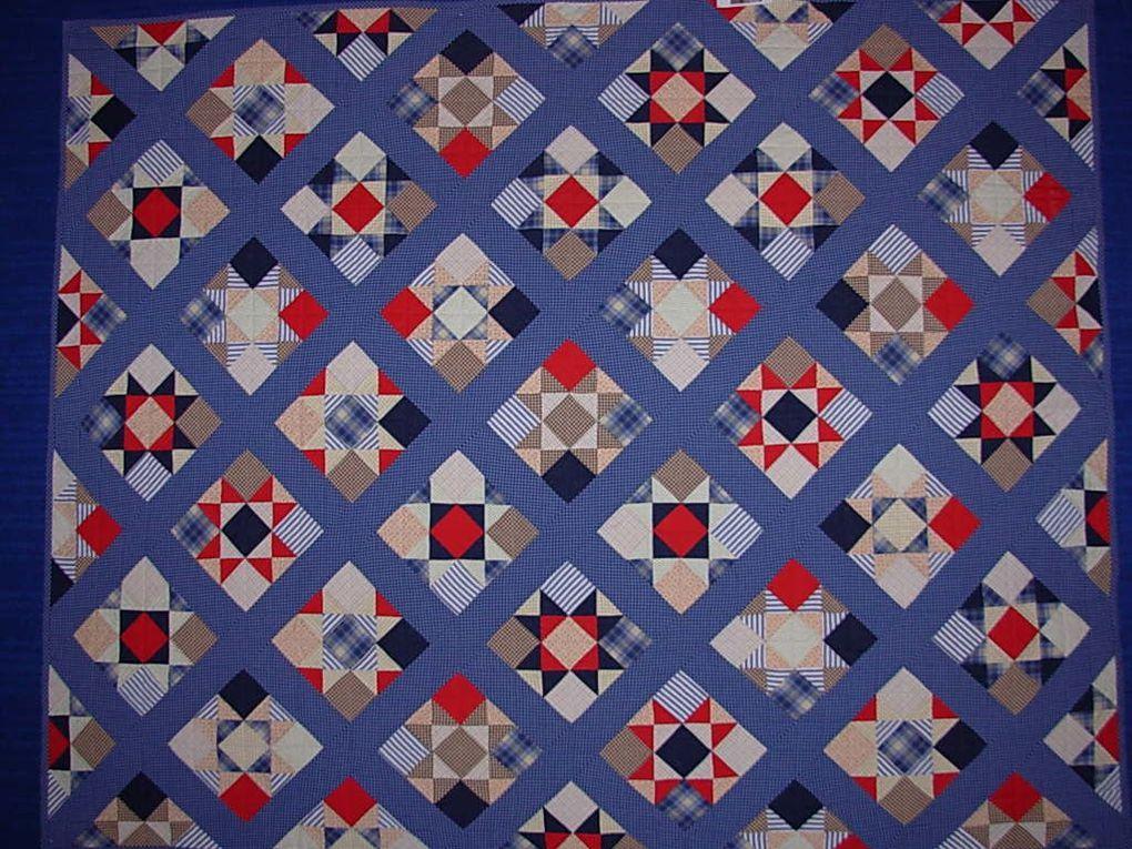 Exposition de patchwork du club de la Côte de Beauté.