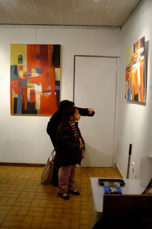 Tableaux de l'artiste Ghâni Ghouar - exposition de mars 2012