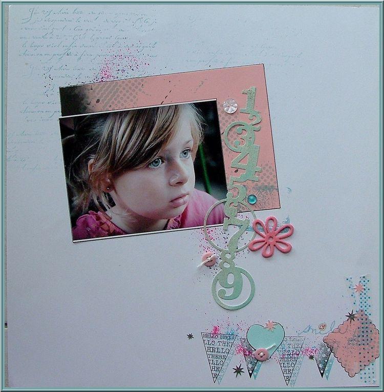 Anise, petite fille douce et adorable... Un parfait petit modèle à scrapper &#x3B;)