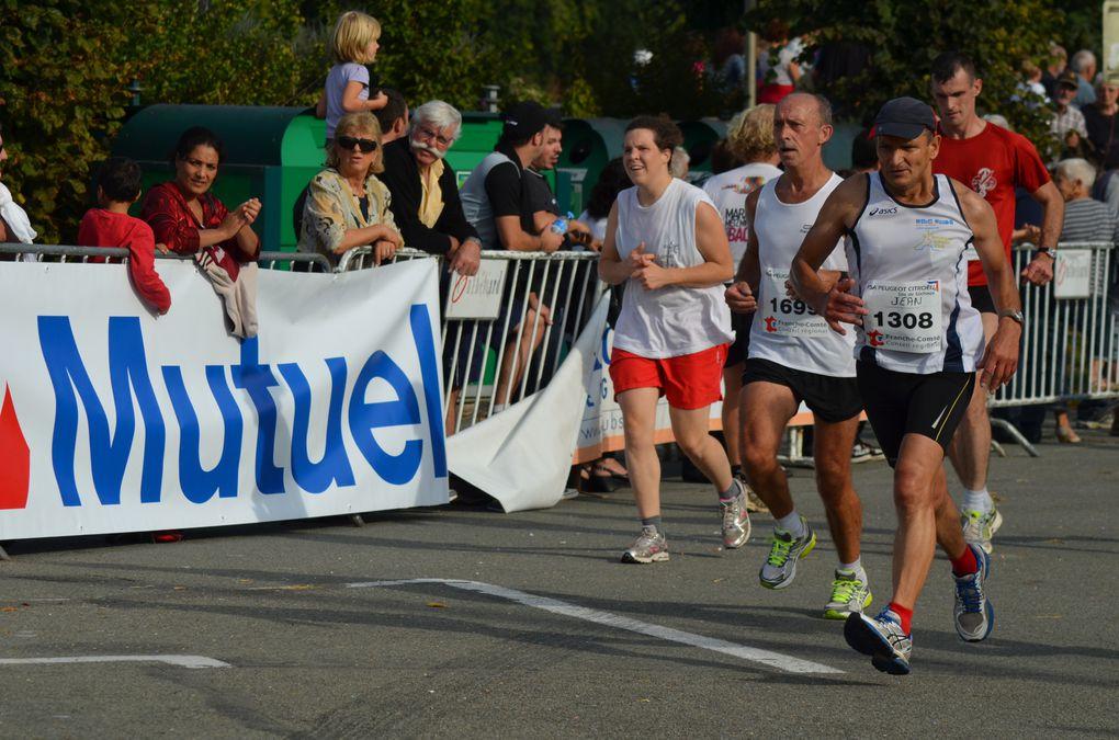 Semi-marathon.Arrivée à Montbéliard