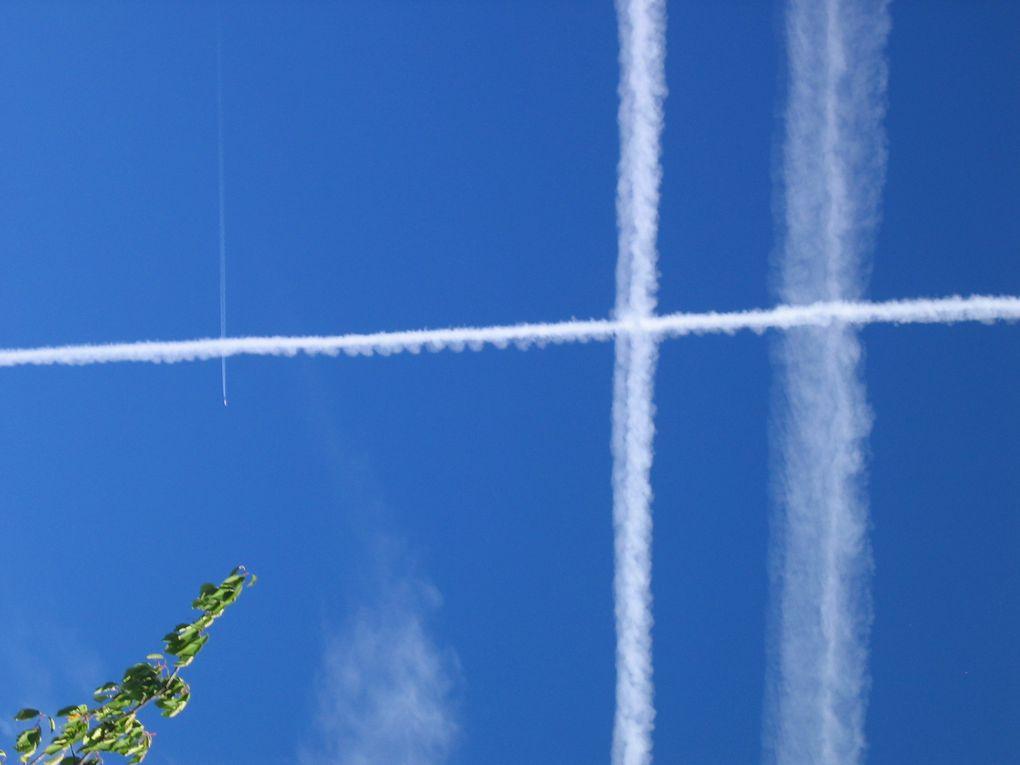 Epandages chimiques aériens : quadrillages, croix, parallèles,etc...